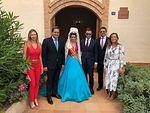 Carmen Navarro y Francisco Núñez asisten a las fiestas patronales de Barrax