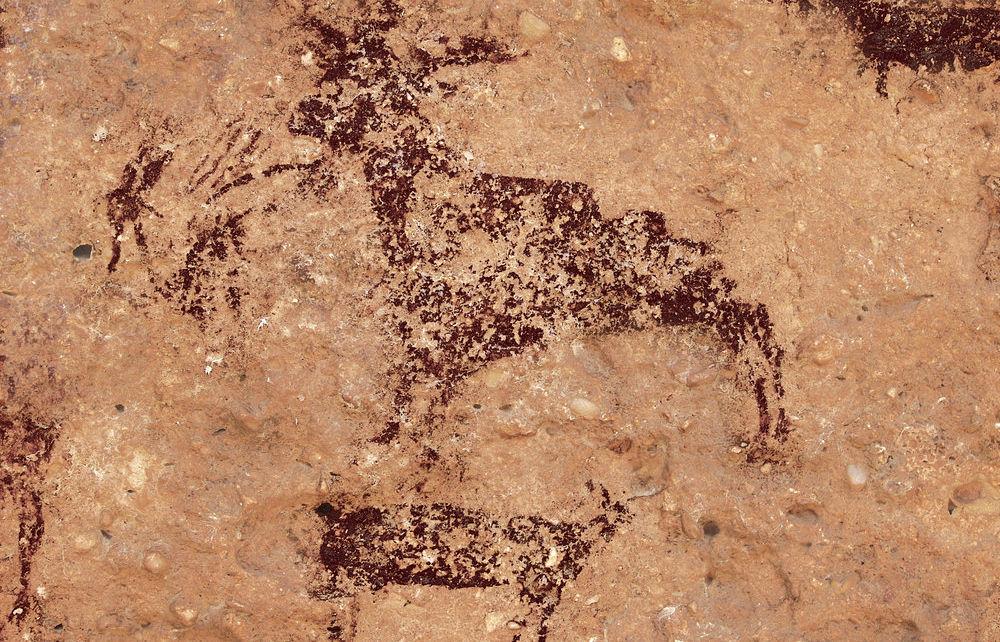 Pintura rupestre en Minateda.