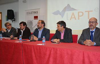 De izqda. a dcha.: Jorge Onrubia, Matías Barchino, Julián Garde, Santiago Castellano y Francisco Navarro.
