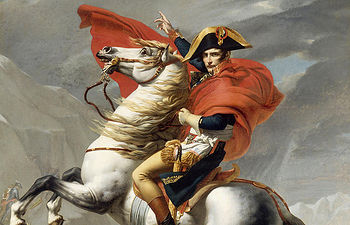 Napoleon Bonaparte. Pintura de archivo.
