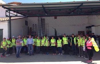 Trabajadores y trabajadoras contratadas por el Plan de Empleo en Torrijos