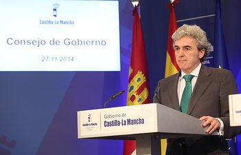 Rueda de prensa Consejo Gobierno (6) 27-11-14. Foto: JCCM.