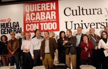 Acto en el Ateneo de apoyo a la huelga general