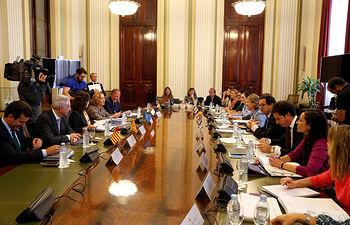 María Luisa Soriano en la reunión del Consejo Consultivo Medio Ambiente (1). Foto: JCCM.