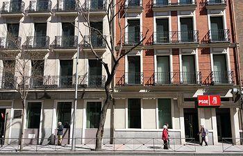 Sede del PSOE en Ferraz.