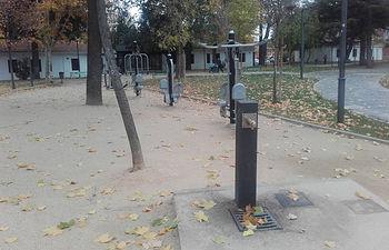 Fuente de agua potable en el parque de La Constitución. Foto: Ayuntamiento de Azuqueca de Henares
