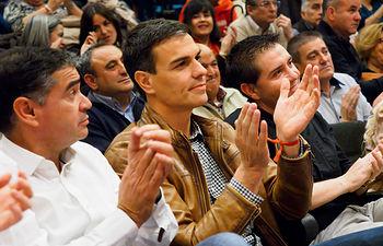 Acto de Pedro Sánchez en Albacete como candidato a la Secretaría General del PSOE