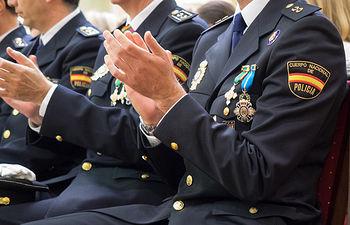 Celebración del patrón de la Policía, los Santos Ángeles Custodios, en Albacete.
