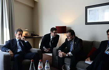 Mariano Rajoy se reúne con Nicolas Sarkozy