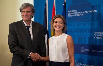 Isabel García Tejerina y Stéphane Le Foll. Foto: Ministerio de Agricultura, Alimentación y Medio Ambiente