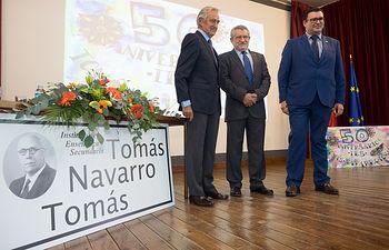 Ángel Felpeto durante el 50 Aniversario del IES Tomás Navarro Tomás