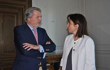 Reyes Estévez se reúne con el ministro de Educación. Foto: JCCM.