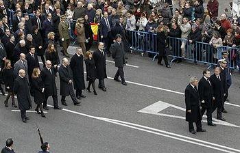 Rajoy preside los actos de despedida de Adolfo Suárez. Foto: EFE.