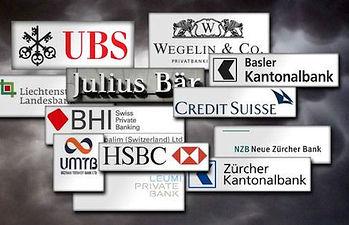 Bancos suizos.