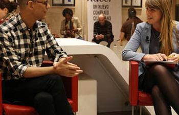 Pedro Zerolo y Estefanía Martín Palop, en el encuentro digital