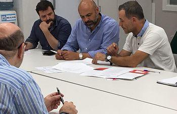 Podemos CLM se reúne con Afanion en Albacete.