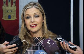 Elena de la Cruz en las Cortes regionales con motivo de la aprobación de un nuevo trasvase del Tajo. Foto: JCCM.