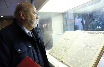 José Luis Tezanos inaugura la exposición¨La huelga de 1917.