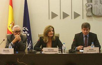 La ministra de Empleo y Seguridad Social, Fátima Báñez, con el secretario general de la OIT, Guy Ryder. Foto: Ministerio de Empleo y Seguridad Social.