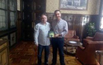 Reunión presidente Diputación de Albacete y Aidiscam