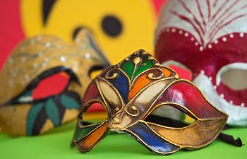 Máscaras de Carnaval (Foto: Carlos Monroy)