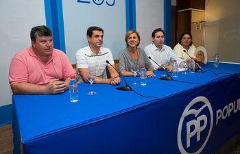 María Dolores Cospedal en la Junta Directiva Provincial del PP de Albacete