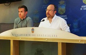 Angel Bachiller y Alejandro Ruiz ediles de C´s Guadalajara.