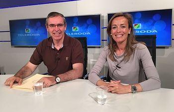 Vicente Aroca y Carmen Navarro, este viernes en Teleroda.