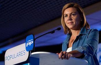 La Secretaria General del Partido Popular durante su intervención en la inauguración de la 22 Unión Intermunicipal Popular