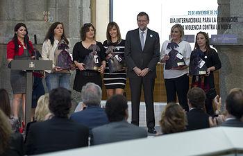 El Presidente del Gobierno, Mariano Rajoy, durante el acto contra la violencia de género.Fotografía: Diego Crespo / Presidencia del Gobierno.Secretaría de Estado de Comunicación.