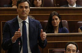 Pedro Sánchez en su interpelación al presidente del Goebrino