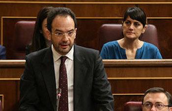 Antonio Hernando en la sesión de control