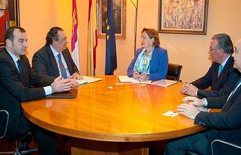Soriano y la Fundación Jamón Serrano. Foto: JCCM.