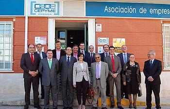 Isabel Rodríguez durante su encuentro con representantes empresariales en Tarancón