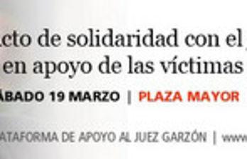 Acto en apoyo del juez Garzón