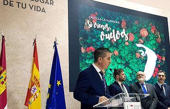 Santiago Cabañero en la inauguración de FITUR 2019.