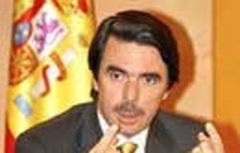 José María Aznar, presidente del Gobierno