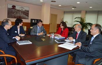 El Gobierno regional conoce los planes de crecimiento y desarrollo de infraestructuras de Gas Natural Fenosa en Castilla-La Mancha. Foto: JCCM.