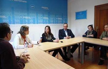 Reunión que ha mantenido Rosa Romero con la junta local del PP de Puertollano