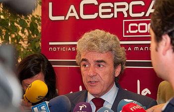 Leandro Esteban, consejero de Presidencia de la JCCM, momentos antes de la presentación de la nueva plataforma digital de La Cerca.