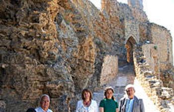 Ángeles García, visitó hoy el Castillo de Zorita convertido en museo