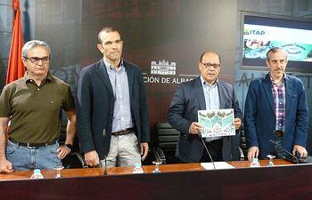 Rueda de prensa celebrada este miércoles relativa a las Jornadas organizadas por el ITAP sobre el cultivo del Almendro.