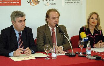 De izqda. a dcha: Antonio Roncero, Antonio Soria y Mª Luisa Martínez