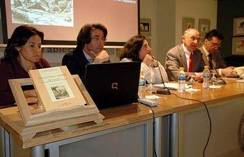 De izqda. a dcha.: María Rubio, Juan José Pastor, Mairena Martín, Eduardo Urbina y Jesús Maestro.