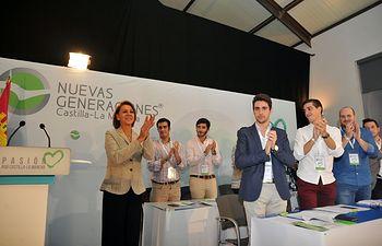 María Dolores Cospedal durante la inauguración del X Congreso de Nuevas Generaciones de Castilla-La Mancha.