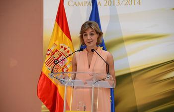 Isabel García Tejerina - Premios acite de oliva - 25-06-14. Foto: Ministerio Agricultura.