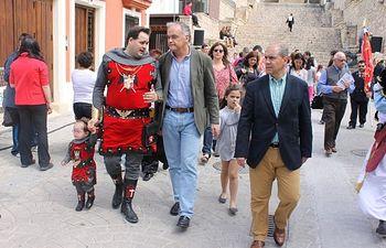 Francisco Núñez y González Pons, en Almansa, durante el primer día de Fiestas Mayores.