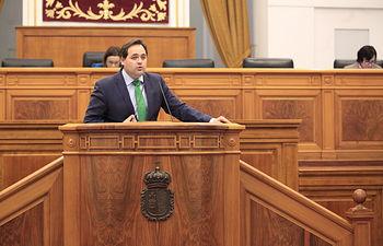 Paco Núñez en el  Pleno Cortes de CLM.