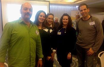 Las profesoras, durante su visita a Bruselas