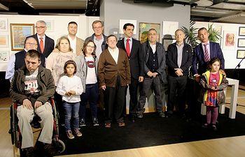 Inauguración de la exposición 'Pinceles por la inclusión'
